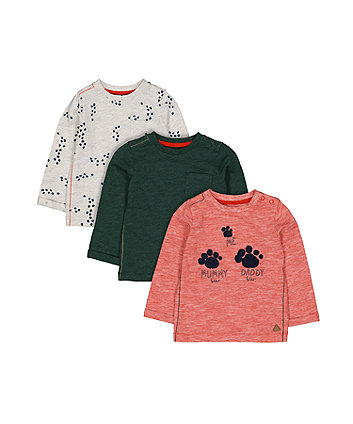 Paw Print T-Shirts - 3 Pack