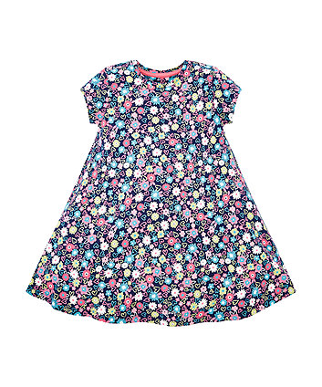 Mothercare Navy Flower Dress