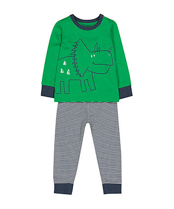 Mothercare Green Dinosaur Pyjamas