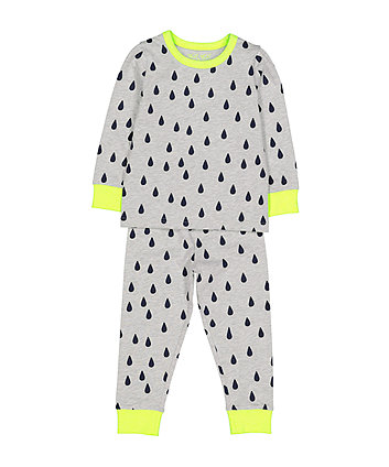 Mothercare Grey Raindrop Pyjamas