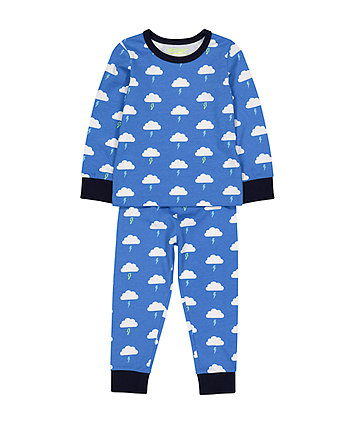 Mothercare Blue Lightning Cloud Pyjamas