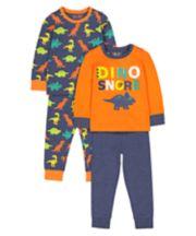 Dinosaursaur Pyjamas - 2 Pack