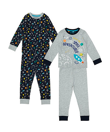 Mothercare Space Adventurer Pyjamas - 2 Pack