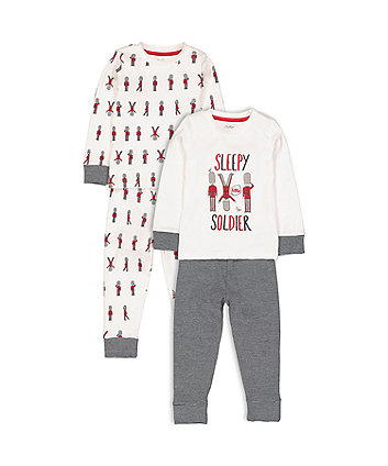Mothercare Heritage Sleepy Soldier Pyjamas - 2 Pack