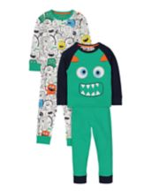 Monster Pyjamas - 2 Pack
