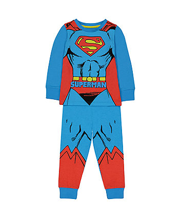 Mothercare Dc Superman Dress Up Pyjamas