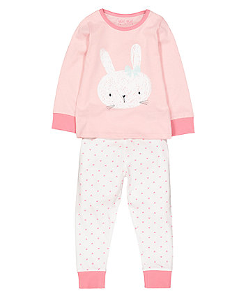 Mothercare Bunny Heart Pyjamas