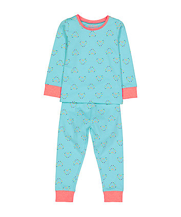 Mothercare Spotty Heart Pyjamas