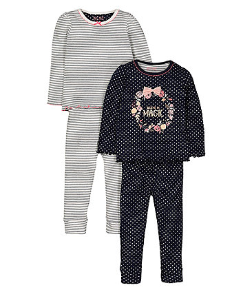 Believe In Magic Pyjamas - 2 Pack