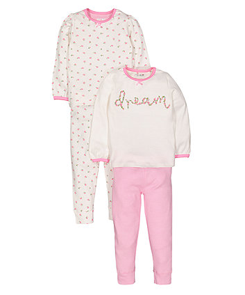 Dream Floral Pyjamas - 2 Pack
