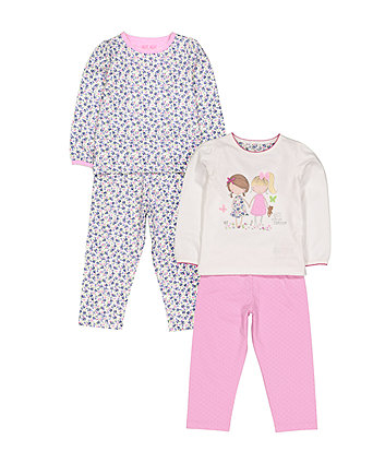 Pretty Girl Pyjamas - 2 Pack