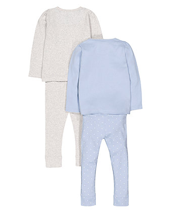 Sleepy Bear Pyjamas - 2 Pack