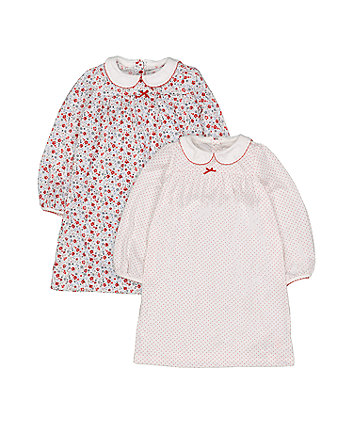 Mothercare Floral And Spot Nighties - 2 Pack