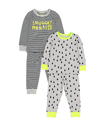 Snuggle Monster Pyjamas - 2 Pack