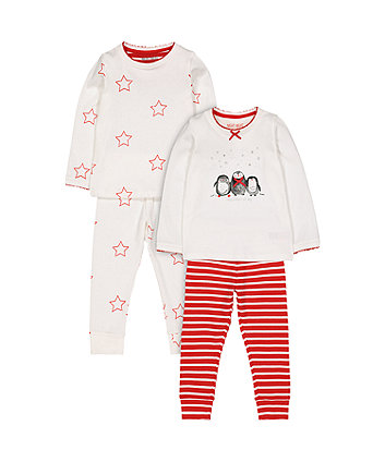 Mothercare Penguin Star Pyjamas - 2 Pack