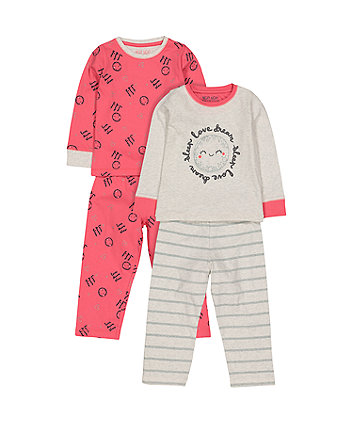 Love Dream Sleep Pyjamas - 2 Pack