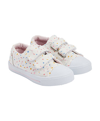 Mothercare Confetti Print Canvas Shoes
