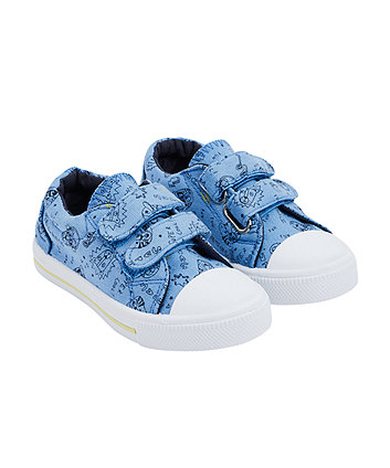 Mothercare Blue Tiger Canvas Shoes