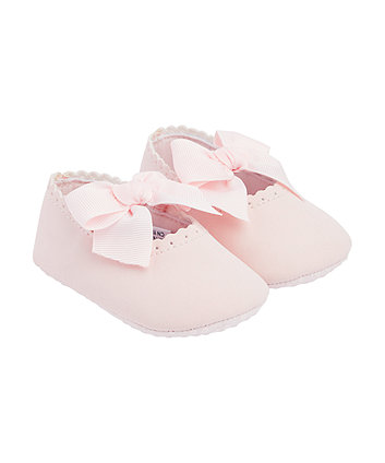 Mothercare Pink Bow Ballerina Shoes