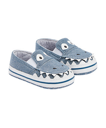 Mothercare Dinosaur Canvas Pumps