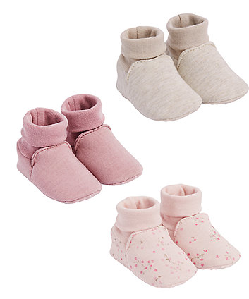 Mothercare Pink Floral Baggies - 3 Pairs