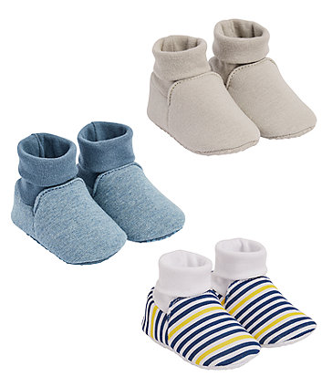 Mothercare Blue Stripe Baggies - 3 Pairs