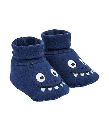Mothercare Blue Dinosaur Socktops