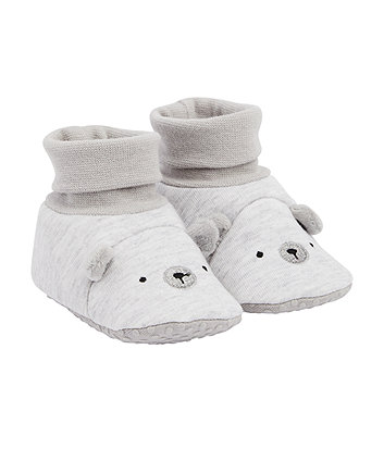 Mothercare Grey Bear Socktops