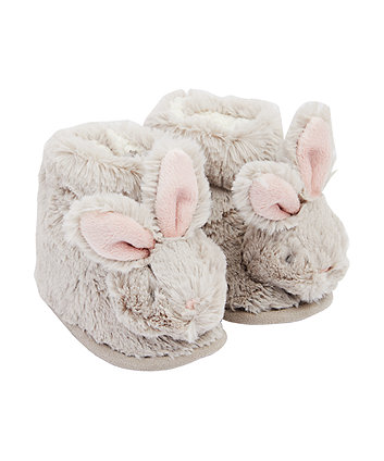 Mothercare Fluffy Bunny Slippers