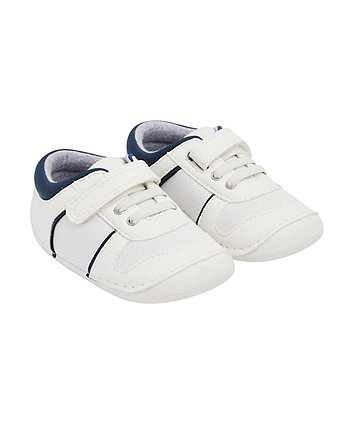 Mothercare White Sport Crawler Trainers