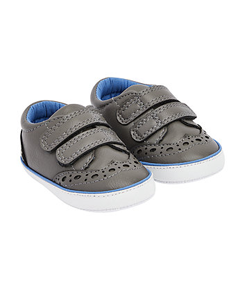 Mothercare Grey Brogue Shoes