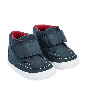 Mothercare Navy Wide Strap Boot