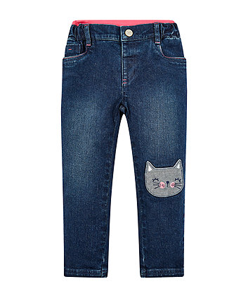 Mothercare Cat Rib Waist Jeans