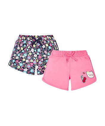 Mothercare Cat Jersey Shorts - 2 Pack