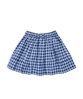 Mothercare Blue Check Skirt