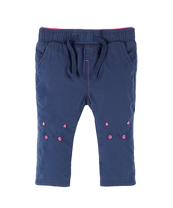 Mothercare Cat Rib Waist Trousers
