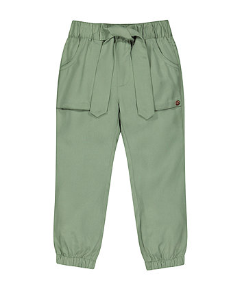 Khaki Tencel Trousers