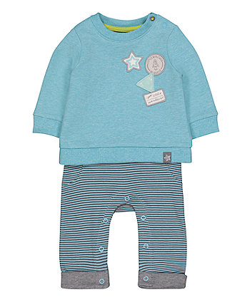 Mothercare Space Explorer Mock Sweat All In One