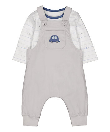 Mothercare Cord Dungarees And Bodysuit Set
