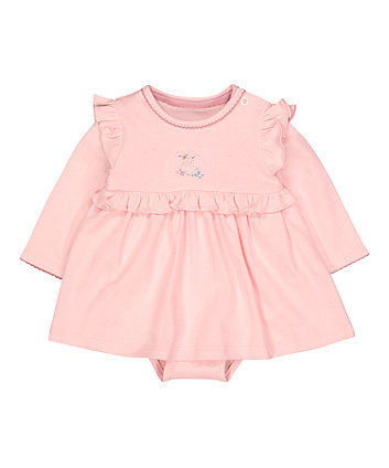 Mothercare Pink Frill Romper Dress