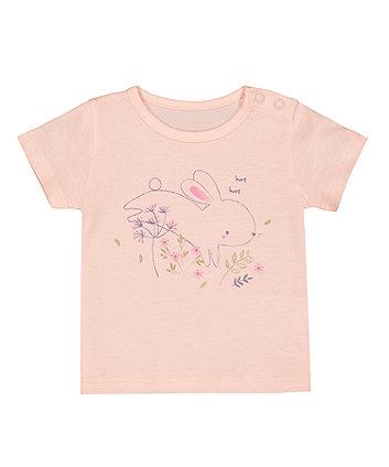 Mothercare Pink Bunny T-Shirt
