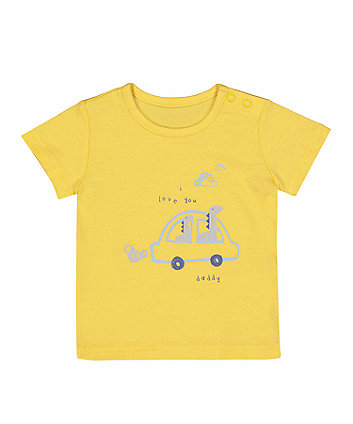 Yellow Daddy Car T-Shirt