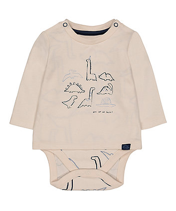Mothercare Dinosaursaur Mock T-Shirt Bodysuit