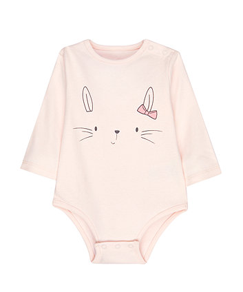 Mothercare My First Pink Bunny Bodysuit