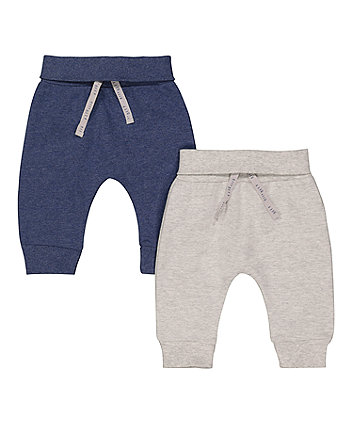 Grey And Blue Joggers - 2 Pack