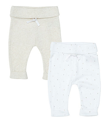 Star And Print Joggers - 2 Pack