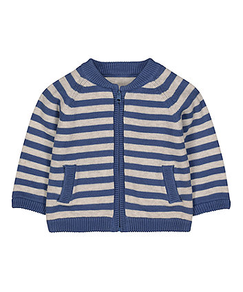 Mothercare Striped Reversible Cardigan