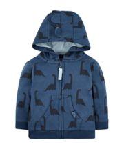 Mothercare Blue Dinosaur Hoodie