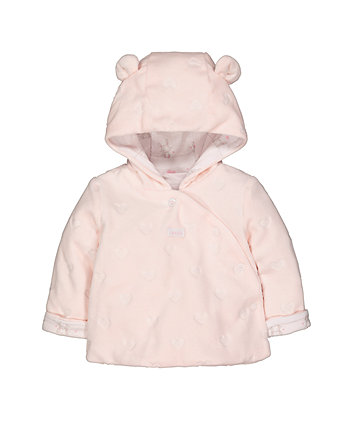 My First Pink Velour Hooded Jacket