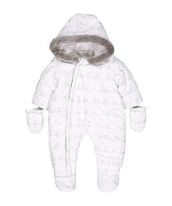 White Animal Snowsuit